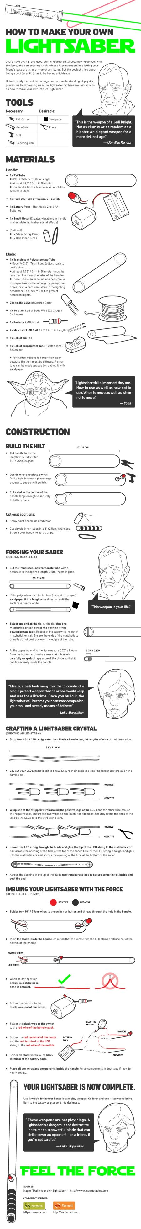 How to make your own light saber
