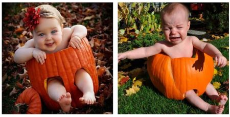 Nailed that – pumpkin kid