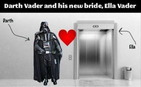 Darth Vador and his new bride