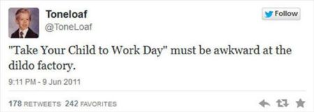 take your child to work day funny tweet