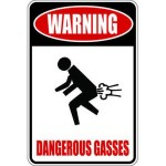 dangerous gasses sign