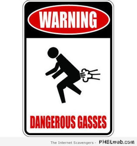 dangerous gasses sign -Farting old lady Joke