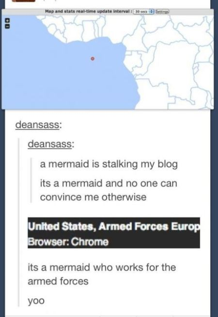 Mermaid who works for armed forces