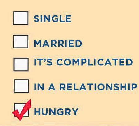 relationship status hungry