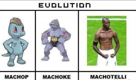 Funny  football/soccer meme – evolution Balotelli