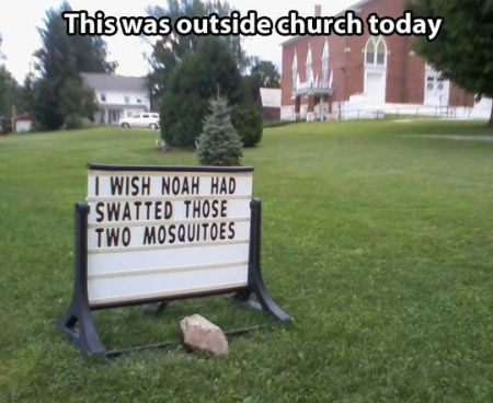 this was outside church today meme