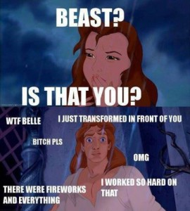 Beauty and the beast - funny meme at PMSLweb.com