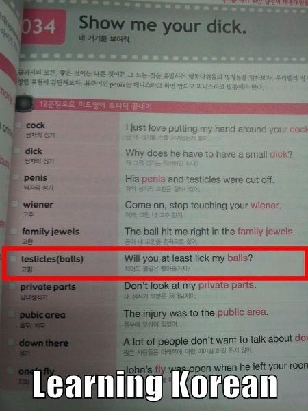learning Korean - Funny pics at PMSLweb.com