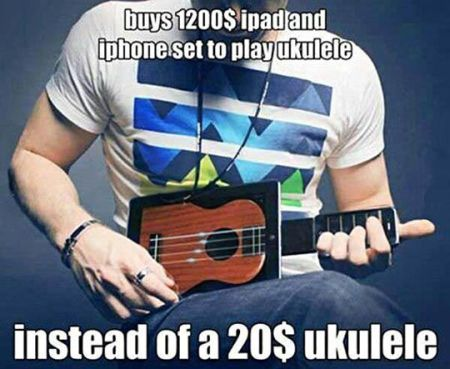 spends 1200$ to play ukulele