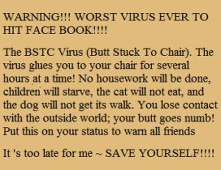 worst virus to ever hit facebook funny