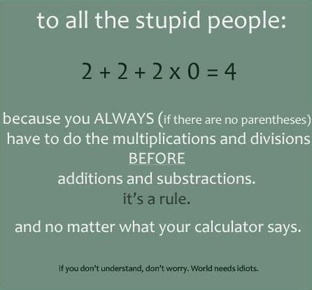to all the stupid people maths