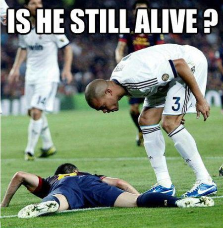 Funny  football/soccer meme – is he still alive