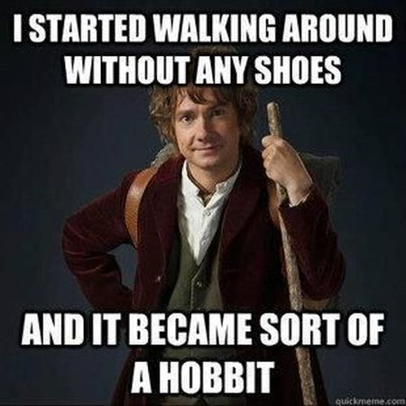 it became a sort of hobbit meme