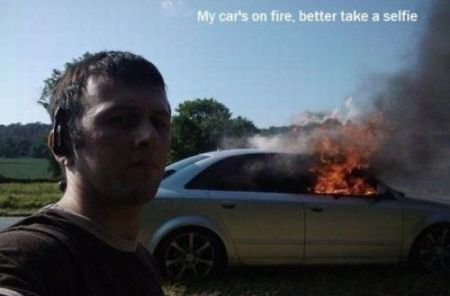 my car's on fire meme