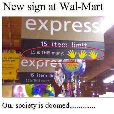 new sign at walmart funny