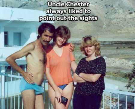 uncle chester always liked to point out the sights
