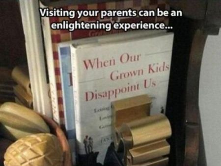 visiting your parents can be an enlightening experience