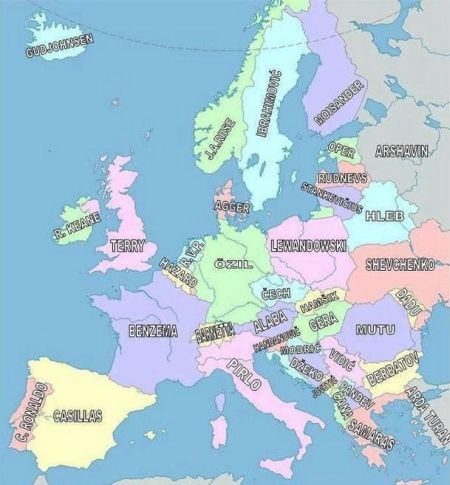 Funny  football/soccer meme – European geography