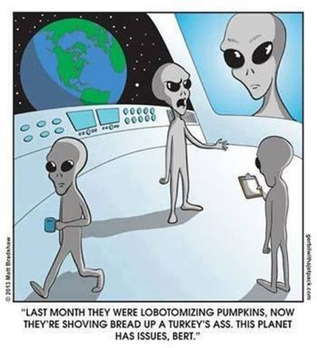 Aliens this planet has issues funny cartoon