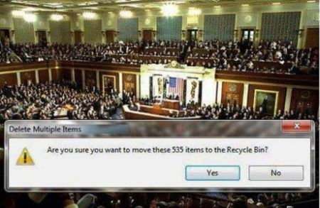 congress in recycle bin
