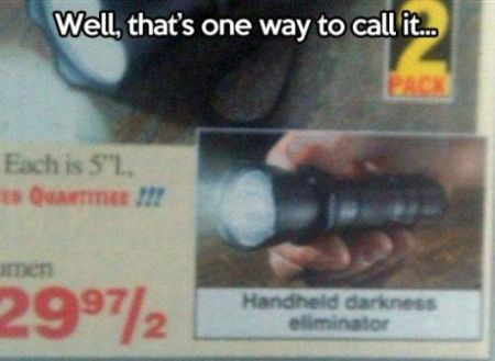 handheld darkness eliminator