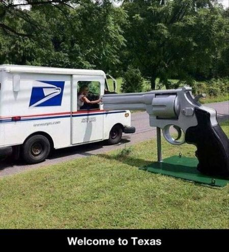 welcome to texas gun mailbox