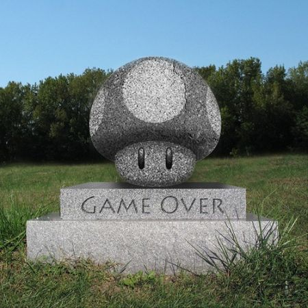 game over cemetery funny