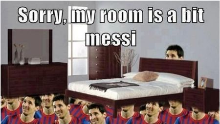 Funny  football/soccer meme – My room is a bit Messi