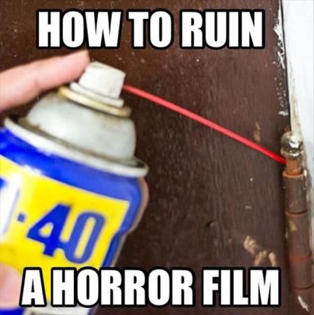 how to ruin a horror film meme