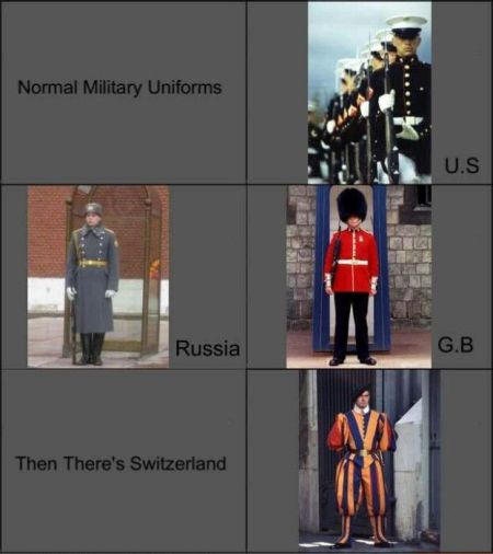 military uniforms funny
