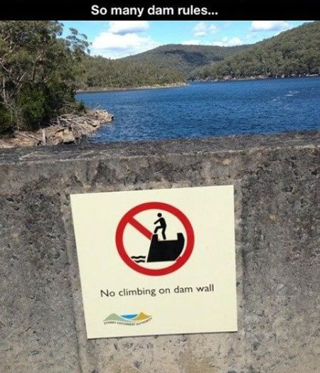 so many dam rules