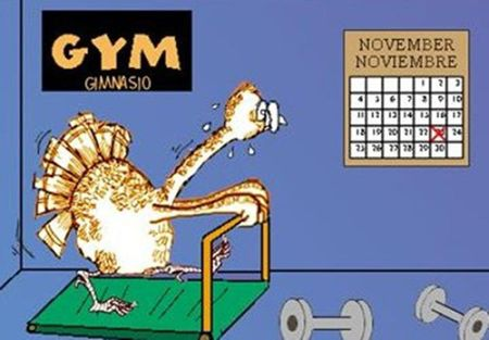 turkey at the gym thanksgiving funny
