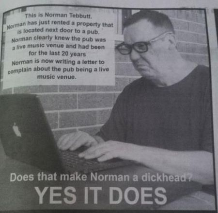 this is norman tebbutt funny