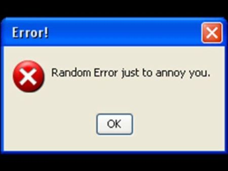 windows random error funny