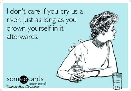 I don't care if you cry us a river ecard