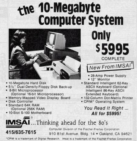 retro computer advert – thinking ahead for the 80's