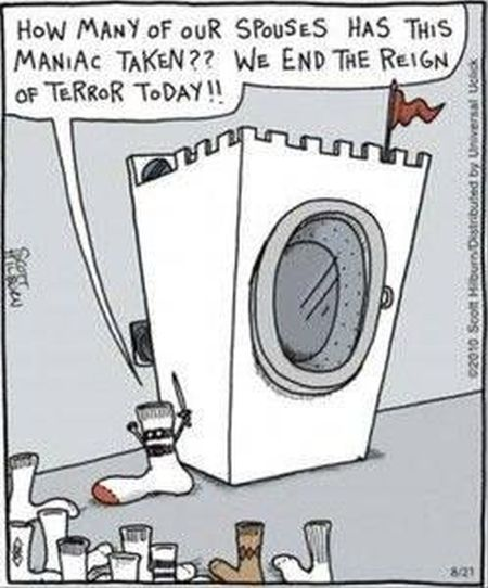 socks and washing machine funny cartoon