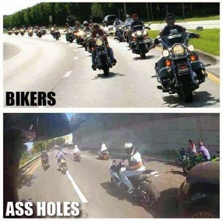 bikers versus a**holes