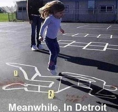 meanwhile in Detroit funny