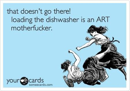 the dishwasher is an art ecard