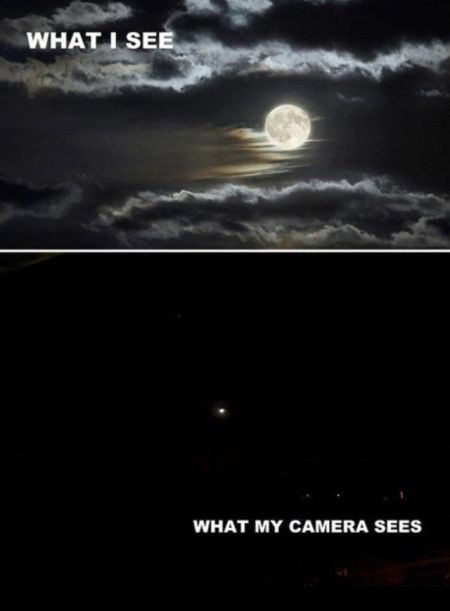 what I see versus what my camera sees
