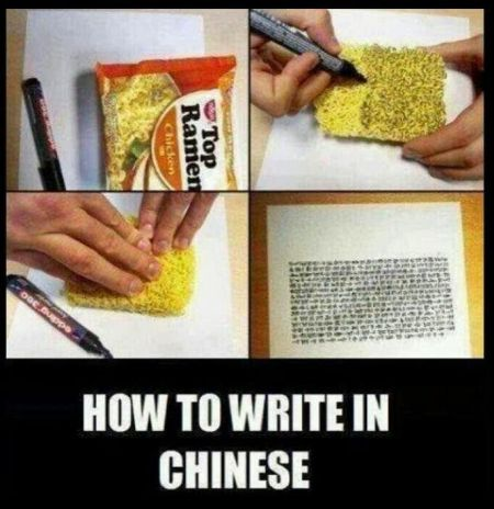 how to write in Chinese funny