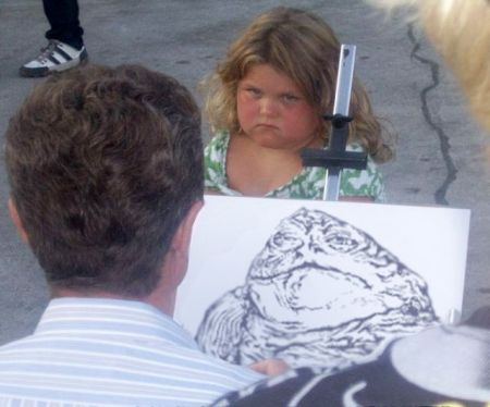 drawing Jabba the girl - Funny pics at PMSLweb.com