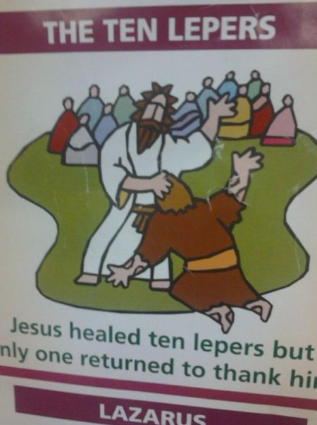 Jesus healed 10 lepers funny