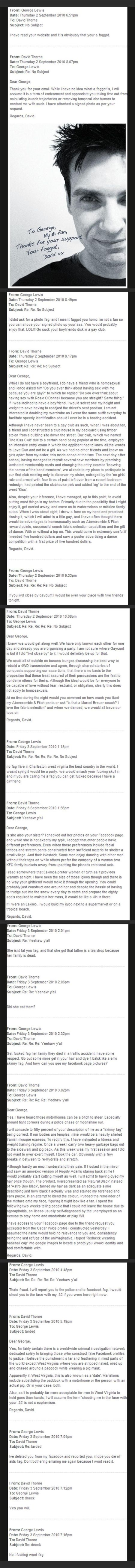 David Thorne to George Lewis email funny