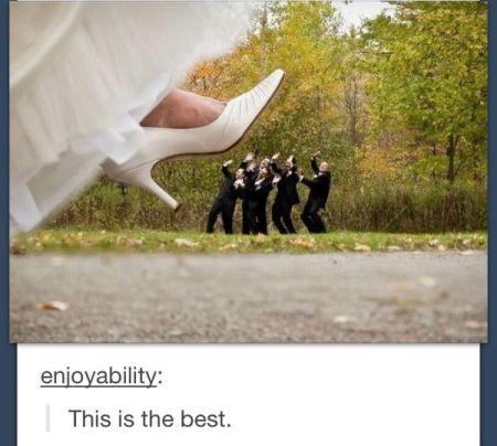 funny wedding shoe picture