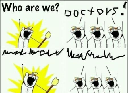 who are we doctors meme