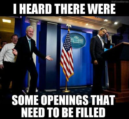 Clinton hears there were some openings