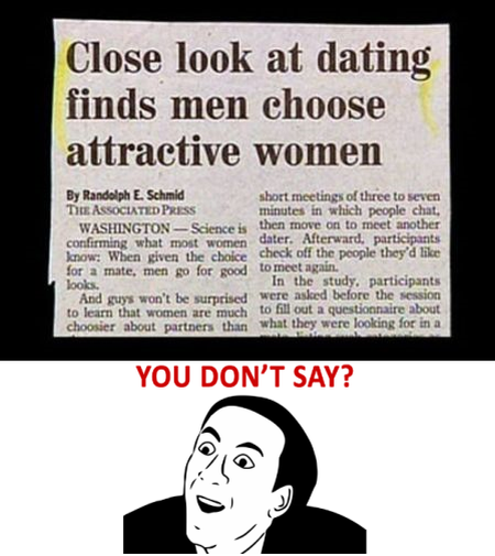 close look at dating finds men choose attractive women