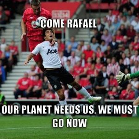 Funny  football/soccer meme – our planet needs us